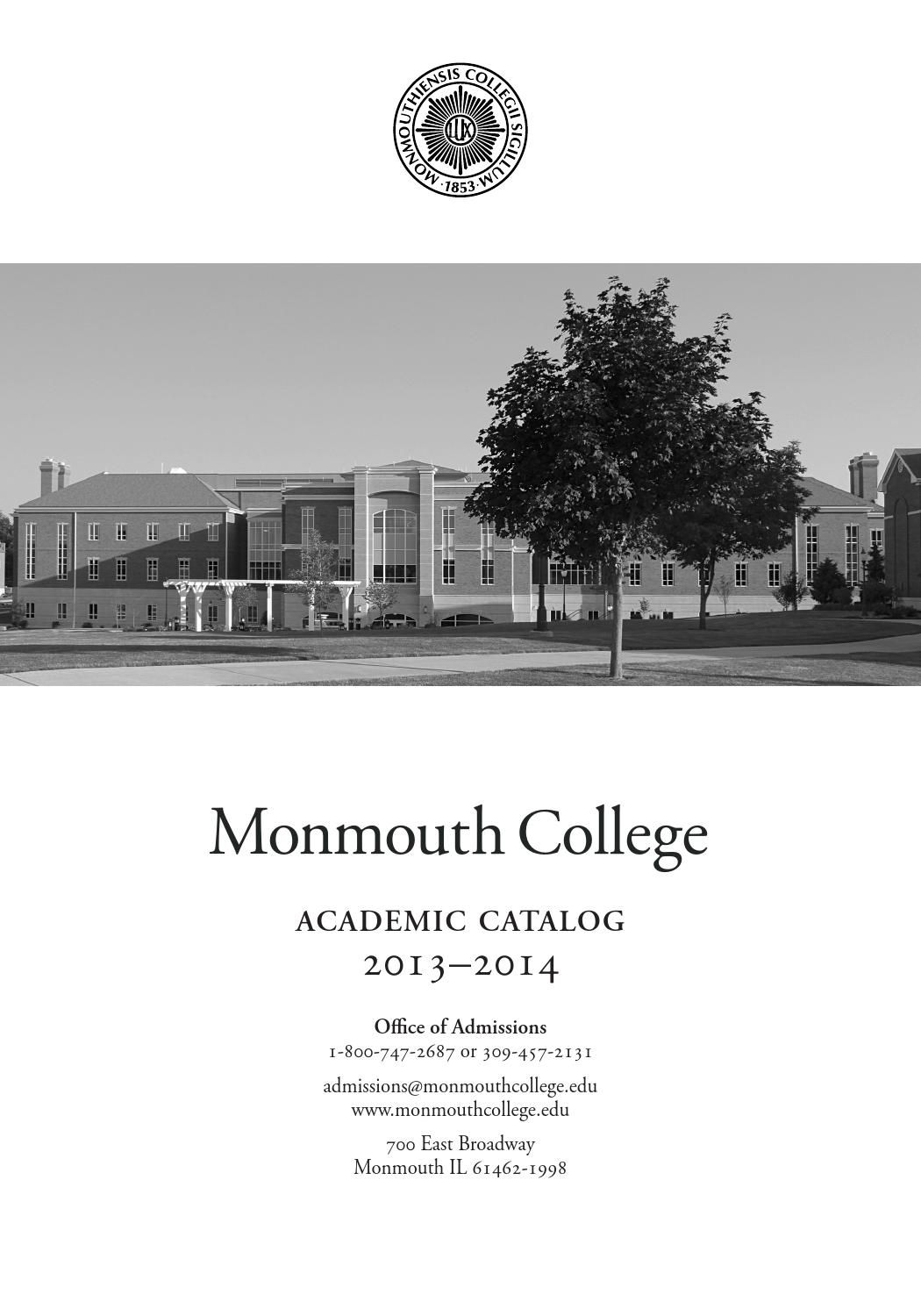 Mc Academic Catalog 2013 2014 By Monmouth College Issuu Dc Thevenin Equivalent Example 1 Youtube