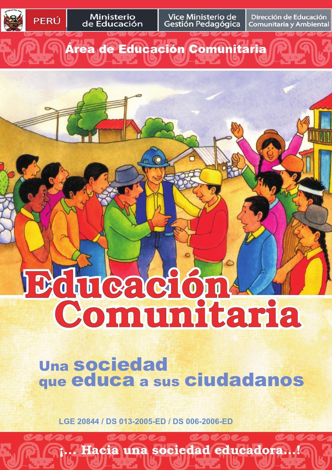 Educacion Comunitaria By Crispin Del Valle Issuu