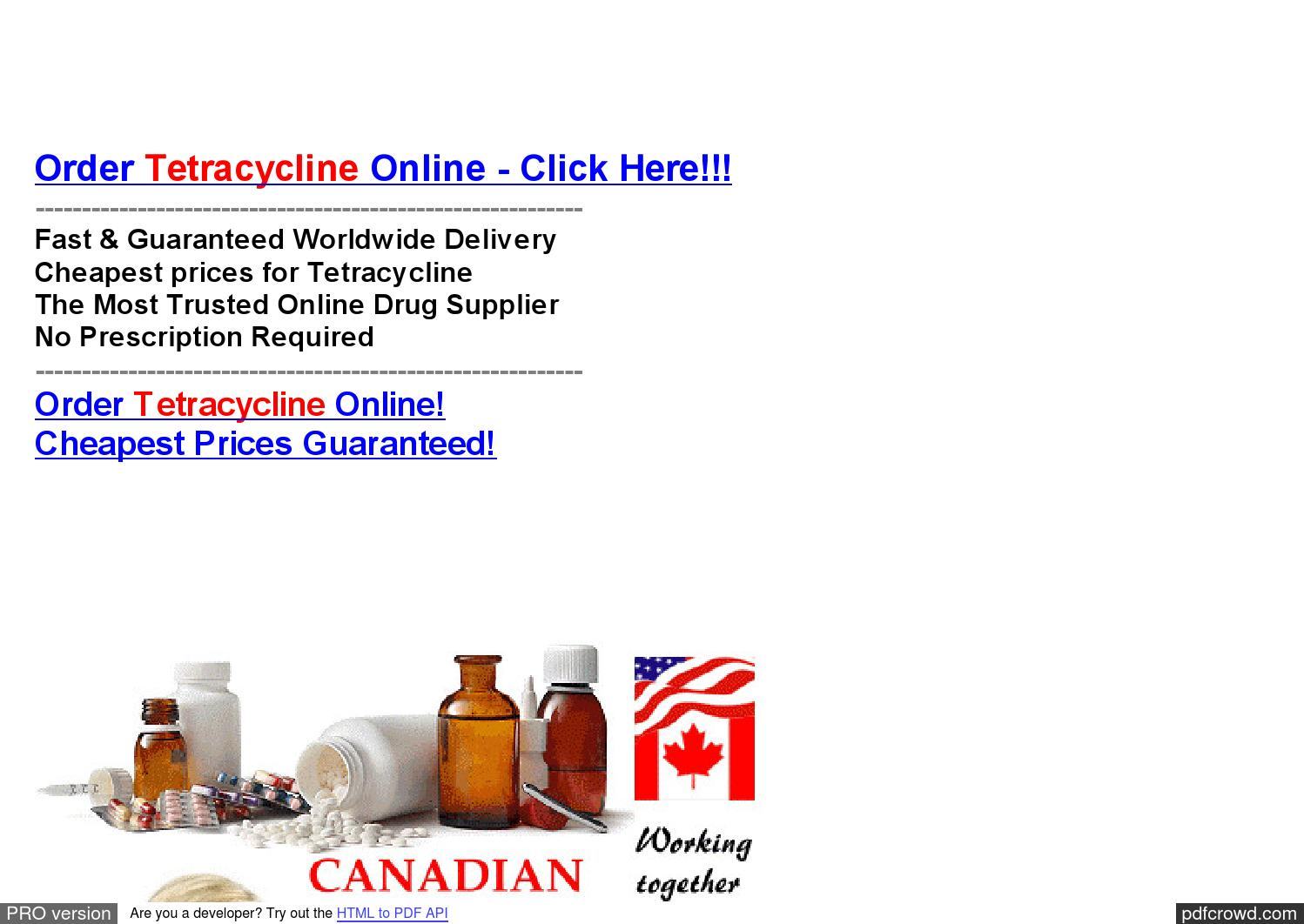Where To Buy Tetracycline Online Cheap