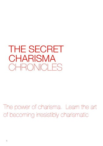 art of charisma