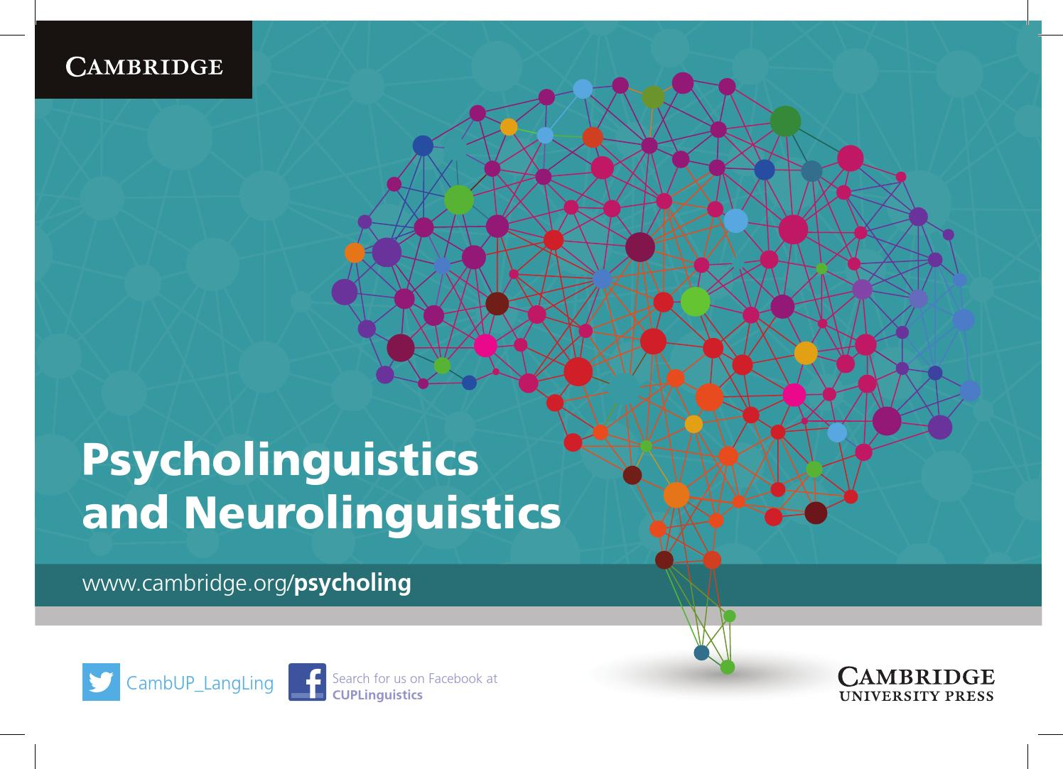 Psycholinguistics and neurolinguistics by cambridge university press psycholinguistics and neurolinguistics by cambridge university press issuu fandeluxe Image collections