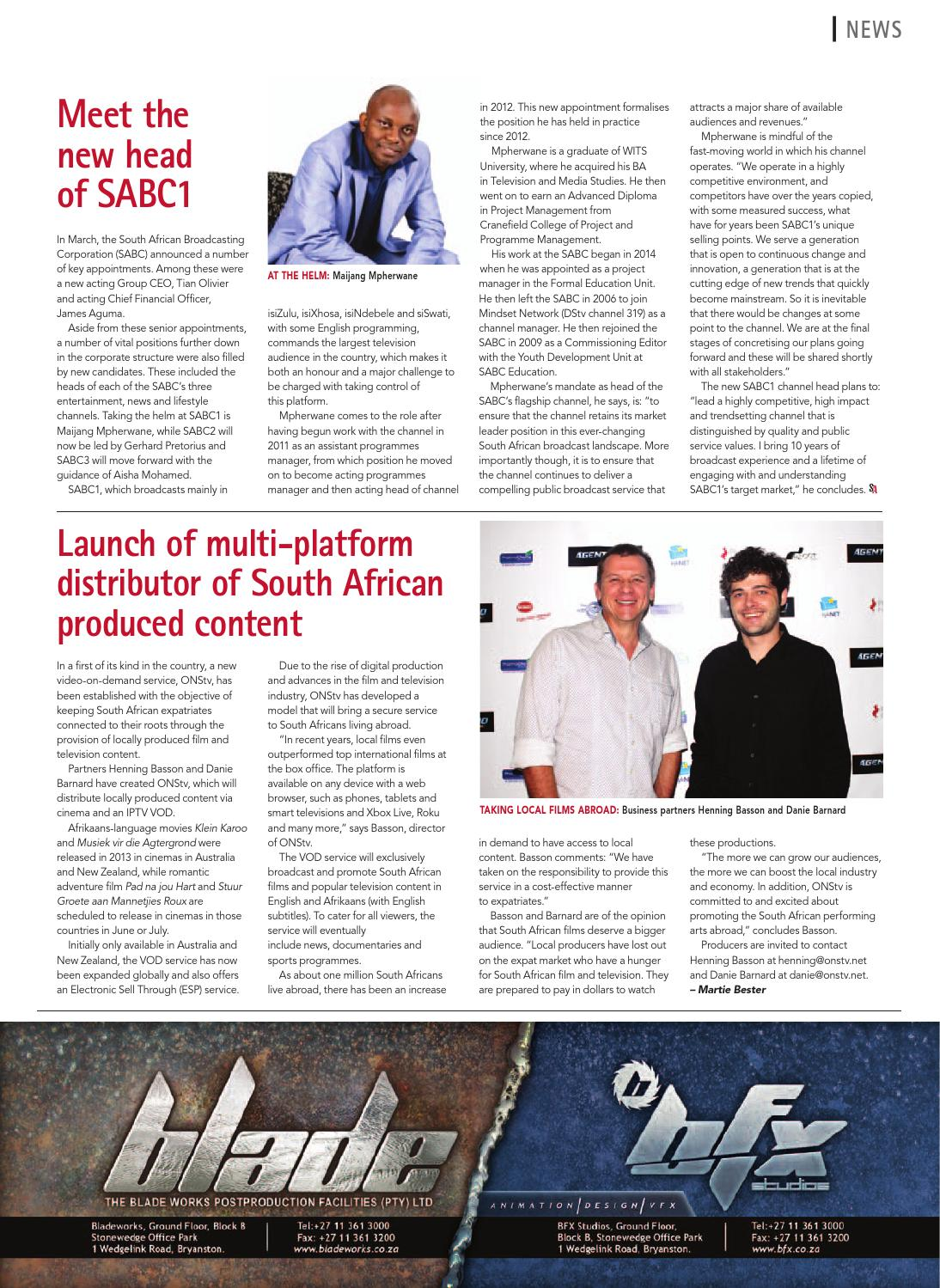Screen Africa April 2014 by Sun Circle Publishers - issuu