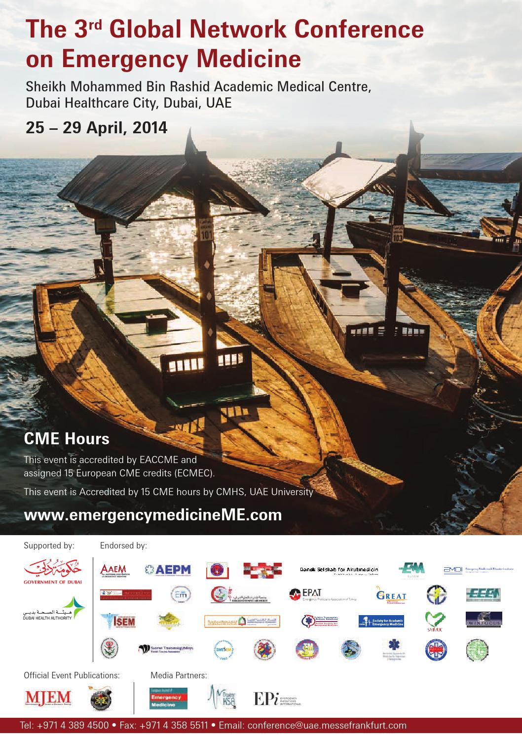 Global Network conference on Emergency Medicine programme by