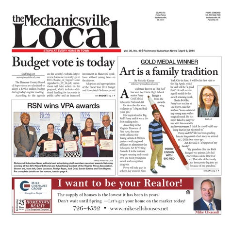 04092014 by the mechanicsville local issuu deliver to postal patron mechanicsville va 23111 fandeluxe Image collections