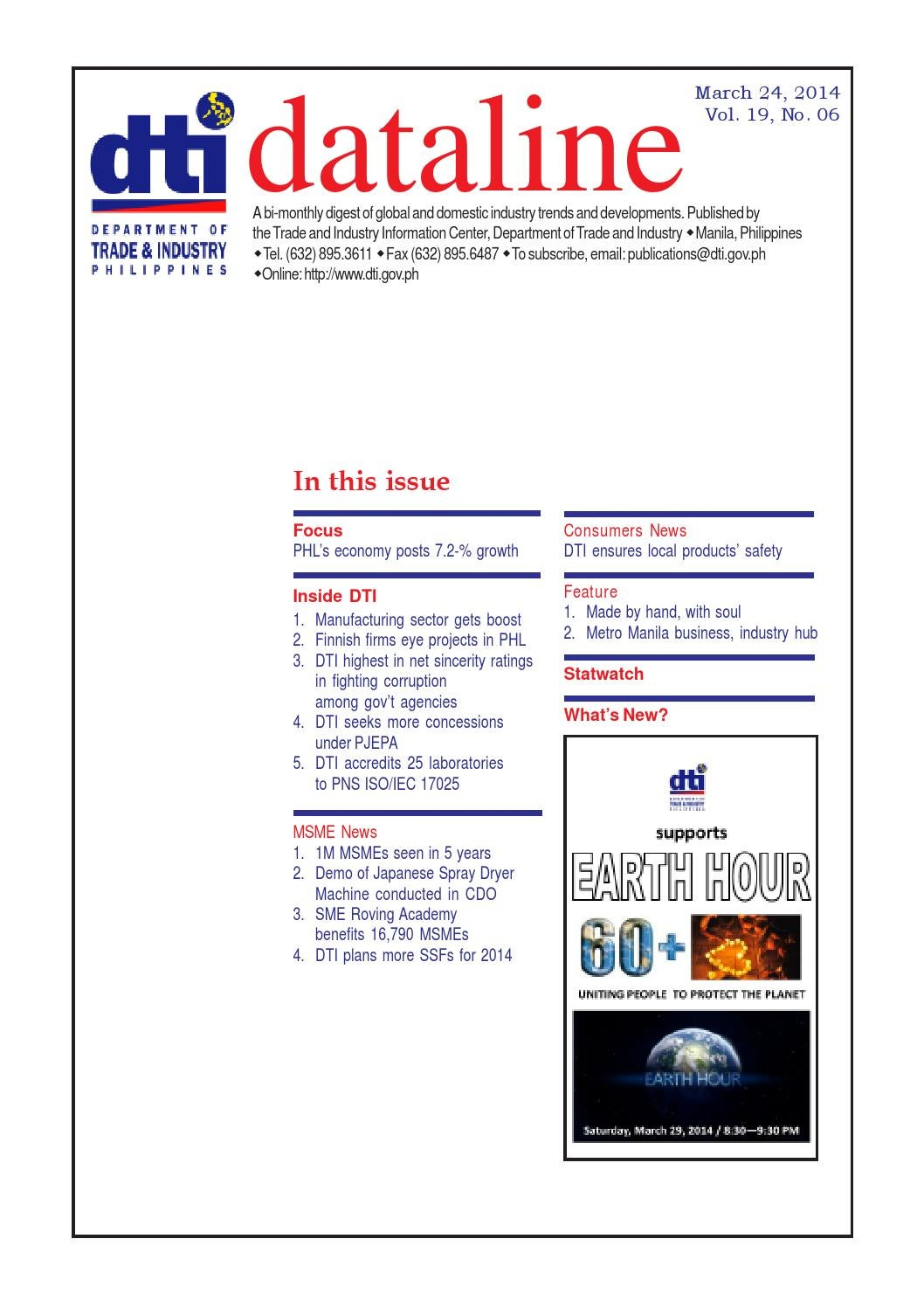 Dataline 6 (2014) by Department of Trade and Industry - issuu