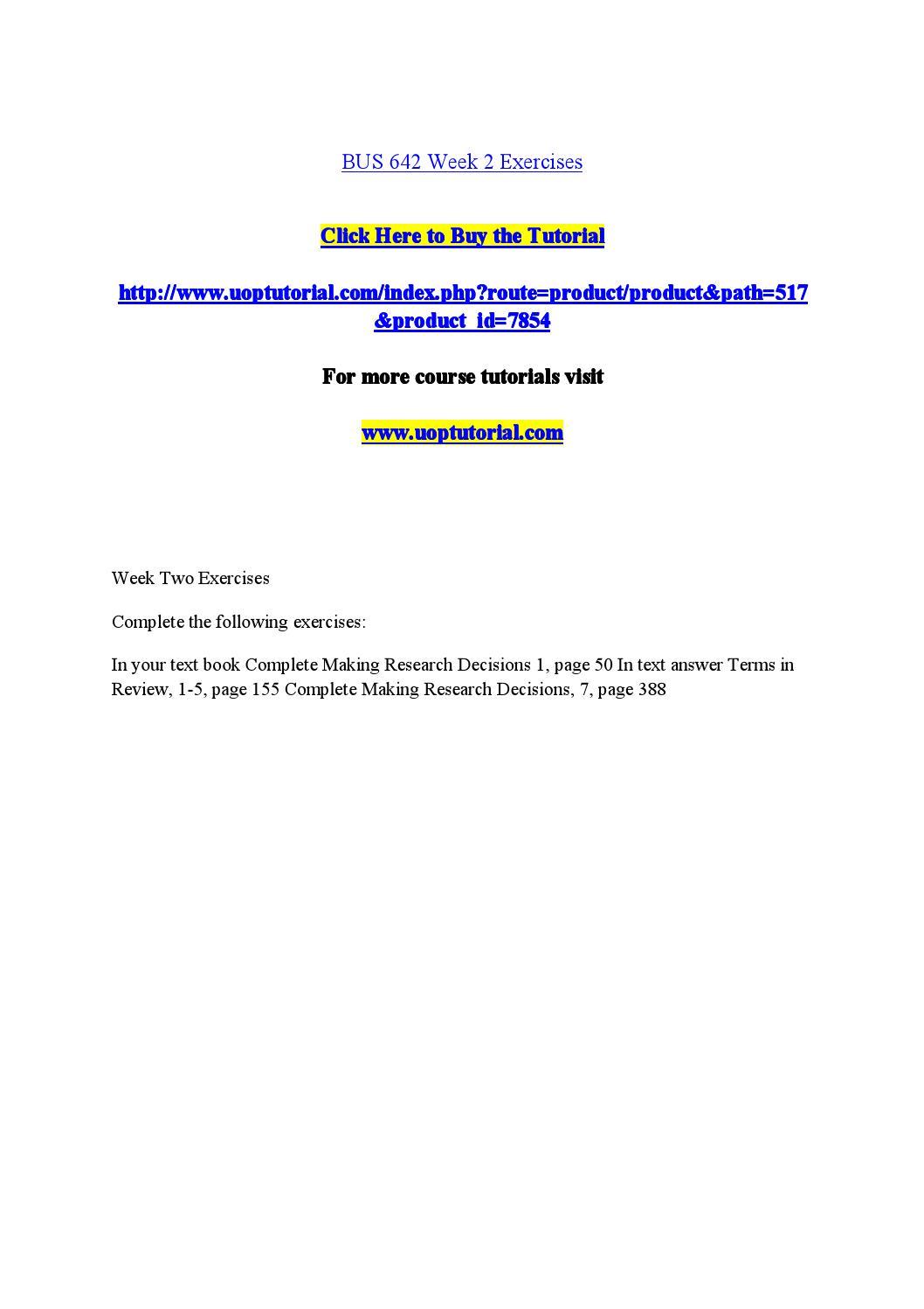 BUS 642 Course Material – bus642dotcom