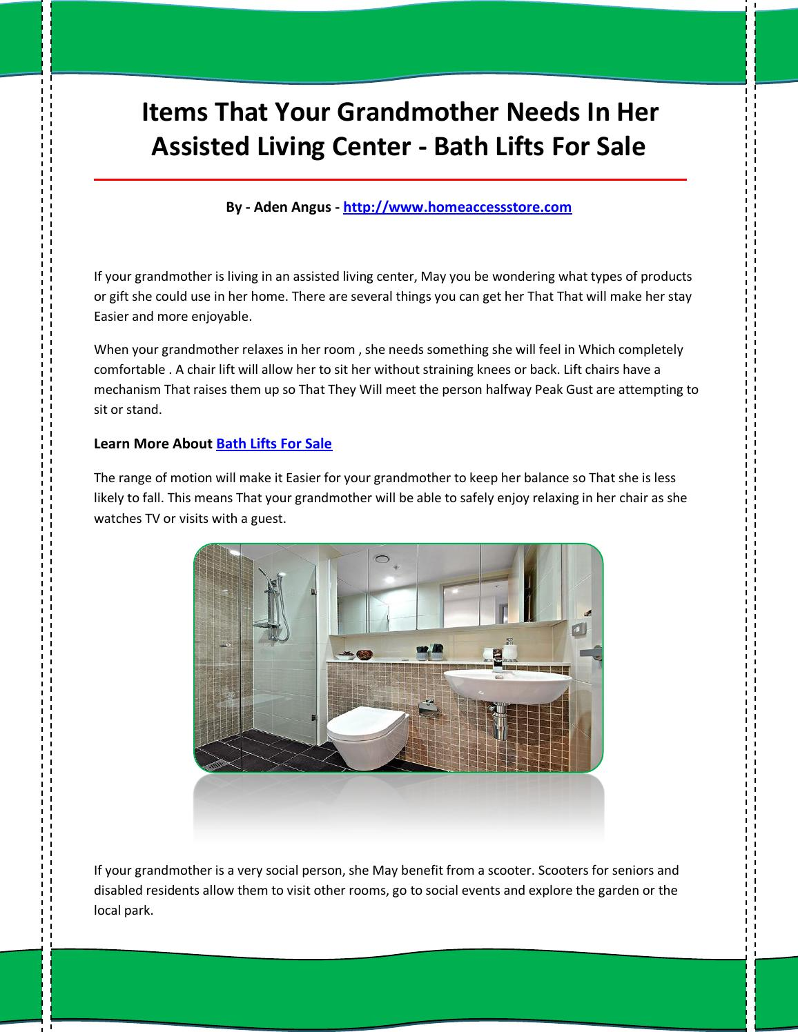 Bath lifts for sale by bathliftsforsale27 - issuu