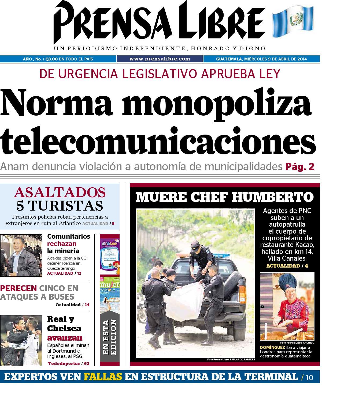 Plmt09042014 by Prensa Libre - issuu