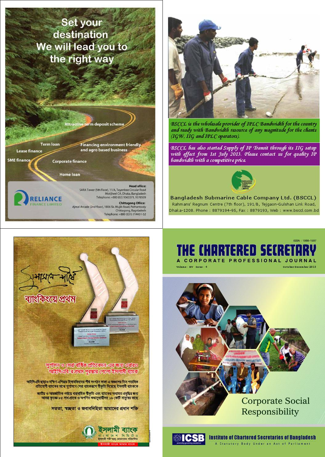 Journal (October-December'13) by ICSB Bangladesh - issuu