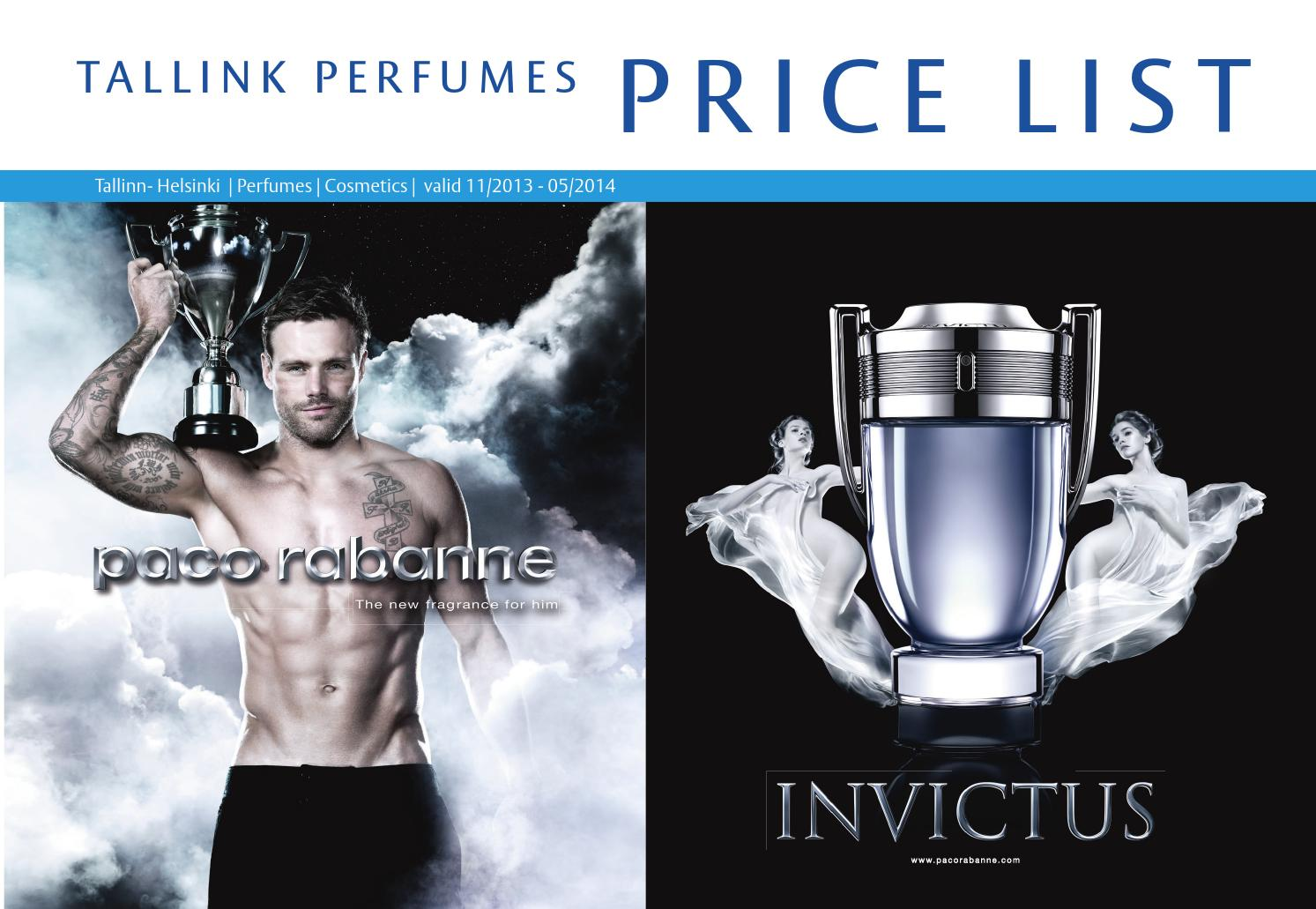 6728d87469d Tallink Price List Perfumes | Cosmetics 11/2013 - 05/2014 by ...