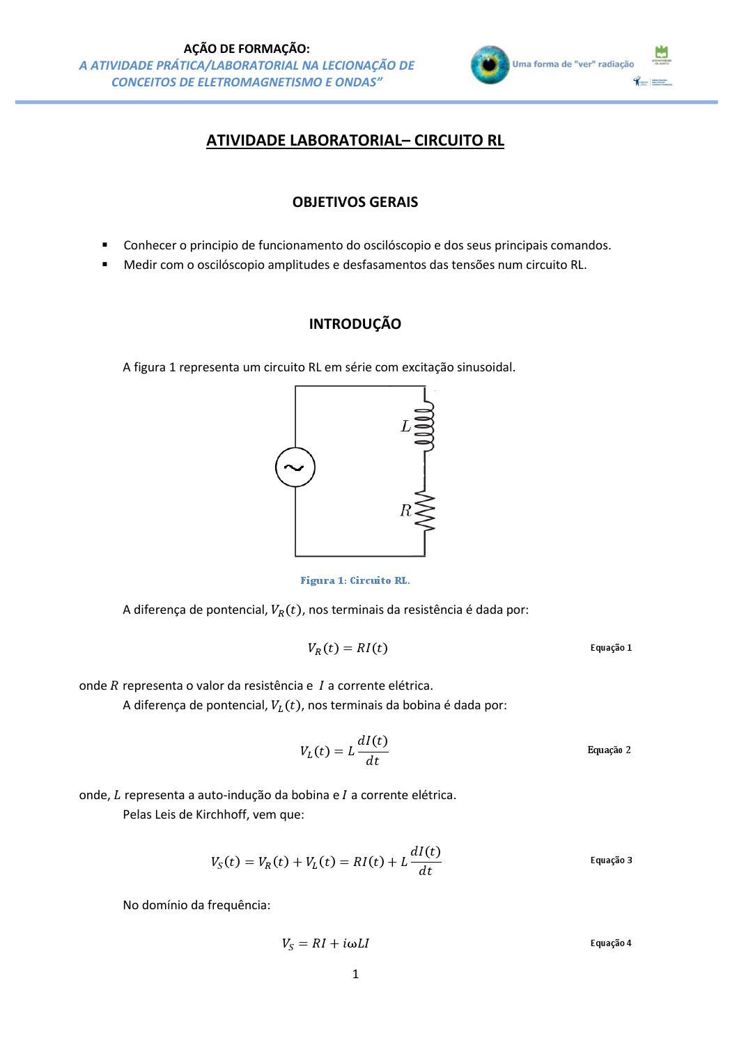 Circuito Rl : Circuito rl by radiacao issuu