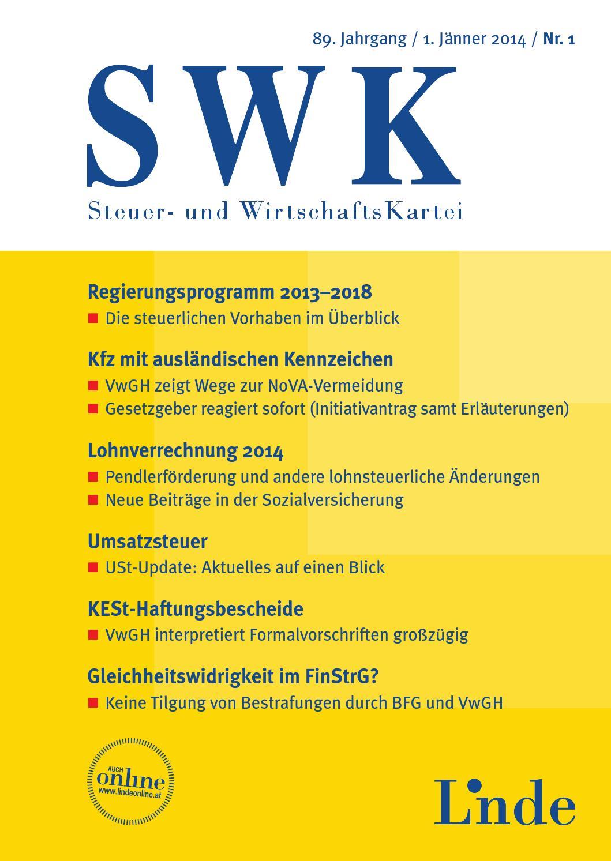 SWK - Heft 8 2011 by Linde Verlag GmbH - issuu