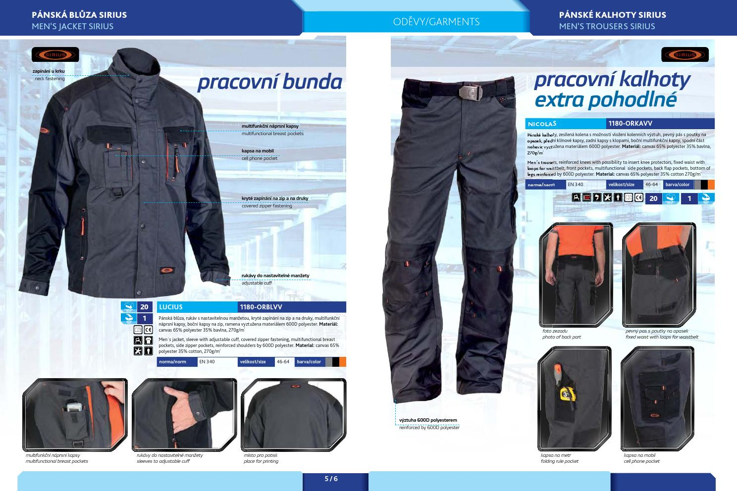 Katalóg pracovné odevy by Natália Husovská - issuu 17a6cf43d1