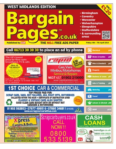 93d707d37e64 Bargain Pages Midlands, 4th April 2014 by Loot - issuu