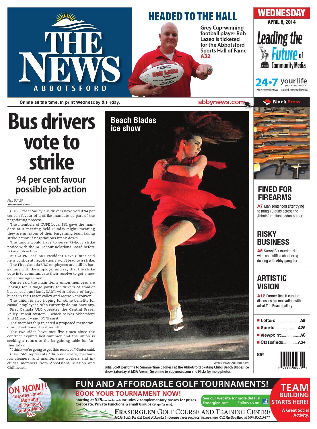 Abbotsford News, April 09, 2014 by Black Press Media Group
