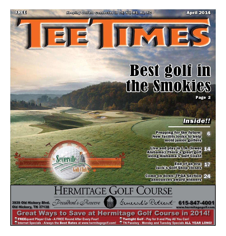 Tee Times April 2014 By Joe Hall