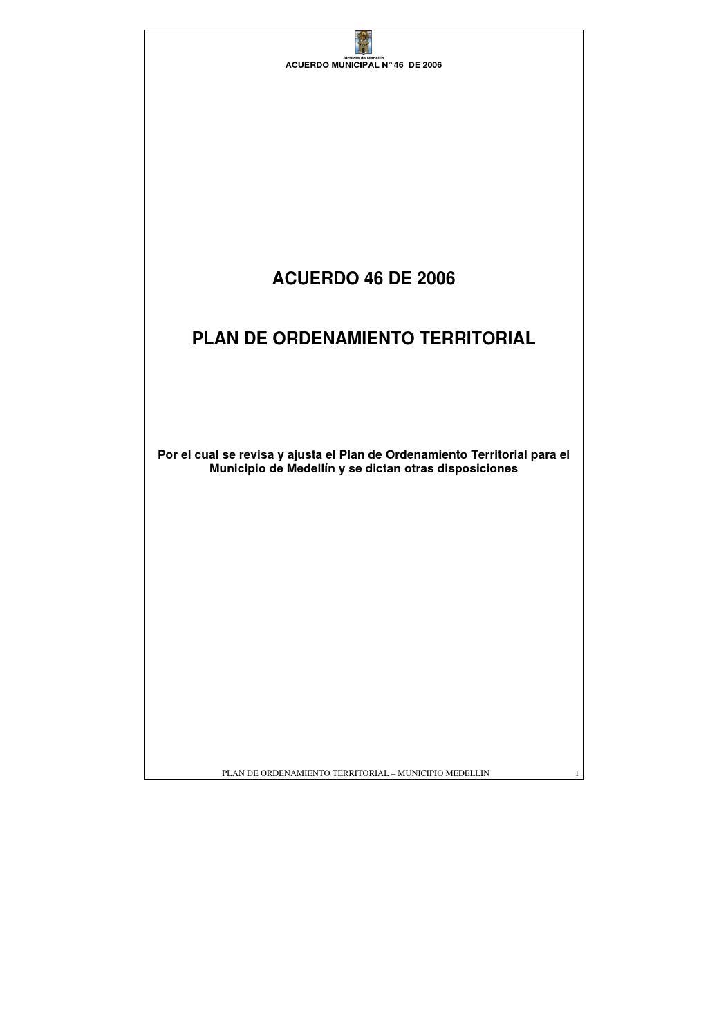 Plan de Ordenamiento de Medellín 2006 by Ciudad Mota - issuu