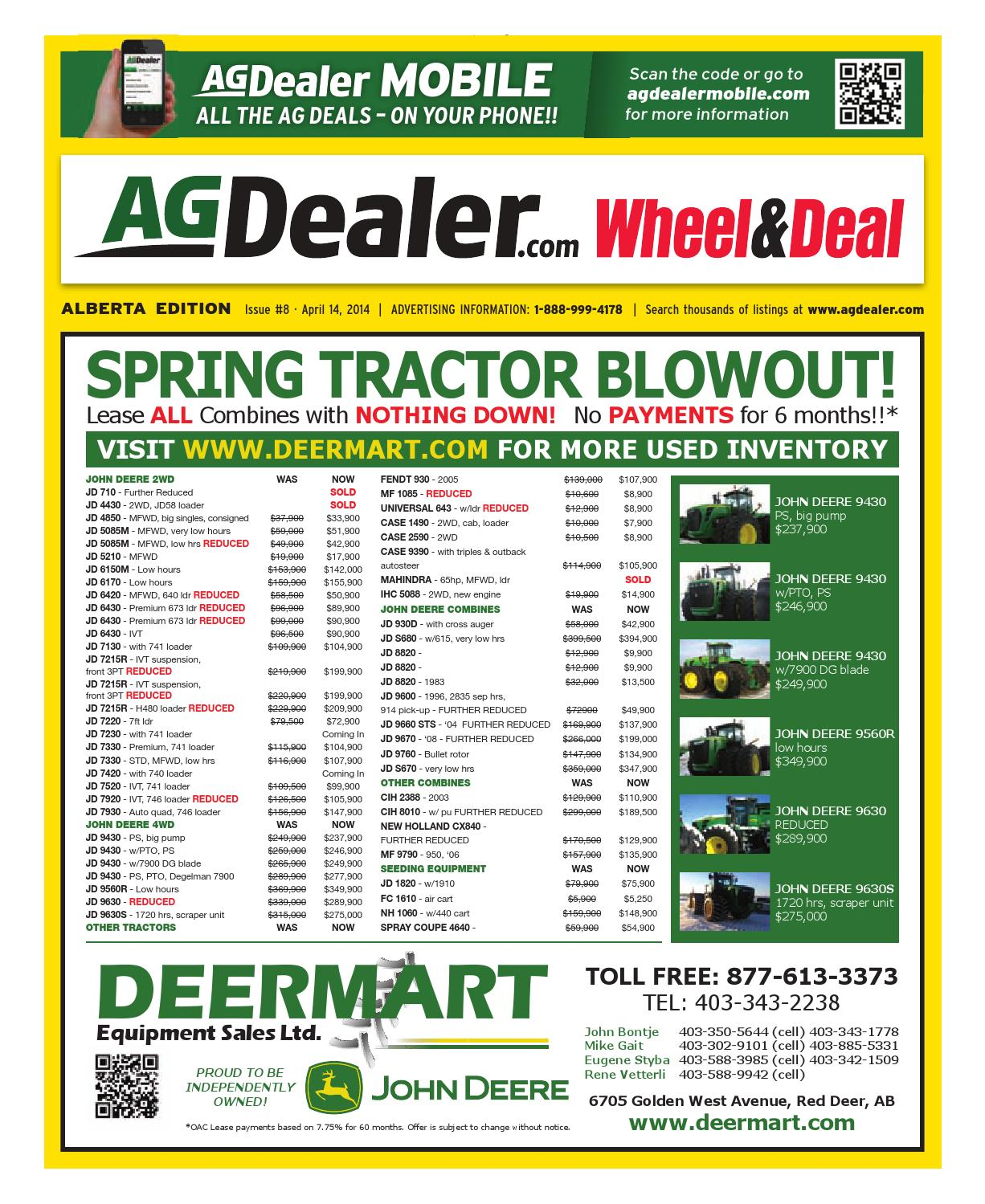 Wheel & Deal Alberta, April 14, 2014 by Farm Business Communications -  issuu