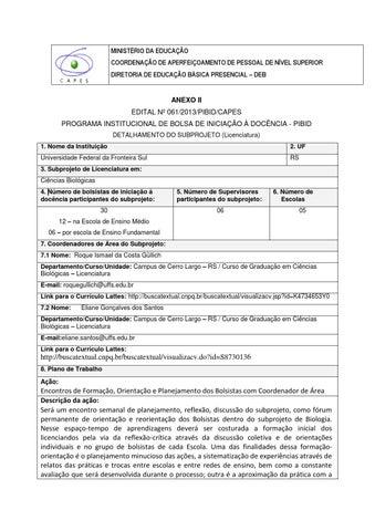 Subprojeto Pibidbiologia Cerro Largo Versão Net 1 By