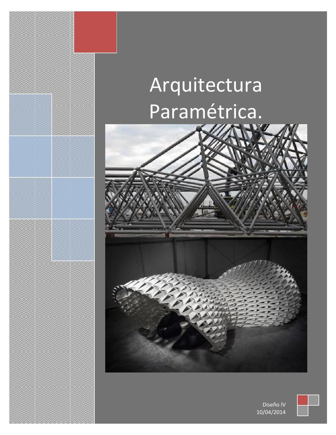 Arquitectura param trica by stepany rivas issuu for Arquitectura parametrica pdf