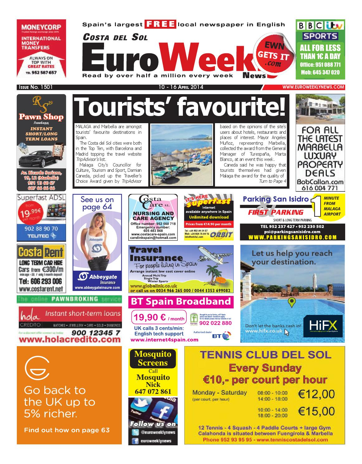 Euro weekly news costa del sol 10 16 april 2014 issue 1501 by euro weekly news costa del sol 10 16 april 2014 issue 1501 by euro weekly news media sa issuu fandeluxe Images