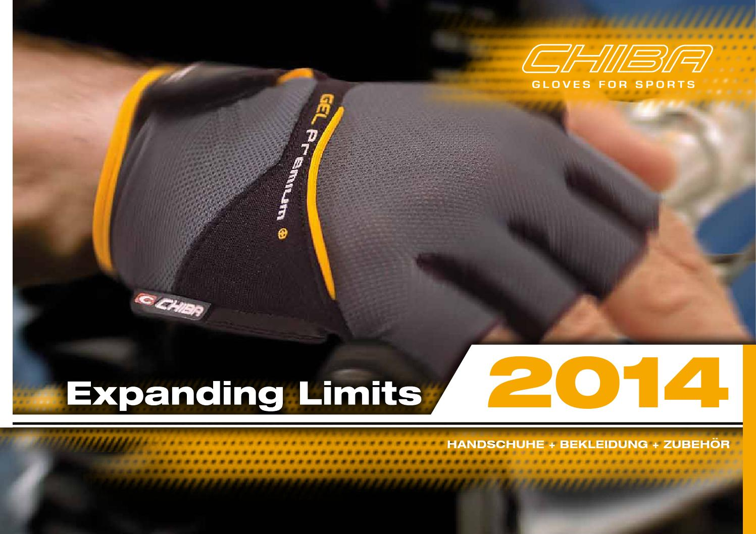 Chiba Gel Comfort Handschuhe schwarz//orange