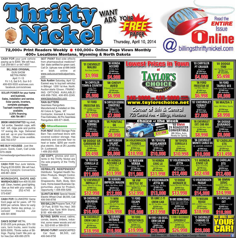 Thrifty Nickel Apr 10 By Billings Gazette Issuu Trailer Light Wiring Harness 4 Flat 35ft To Redo Lights