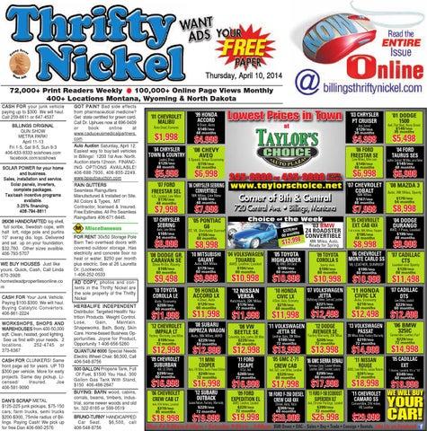 Thrifty Nickel Apr  10 by Billings Gazette - issuu