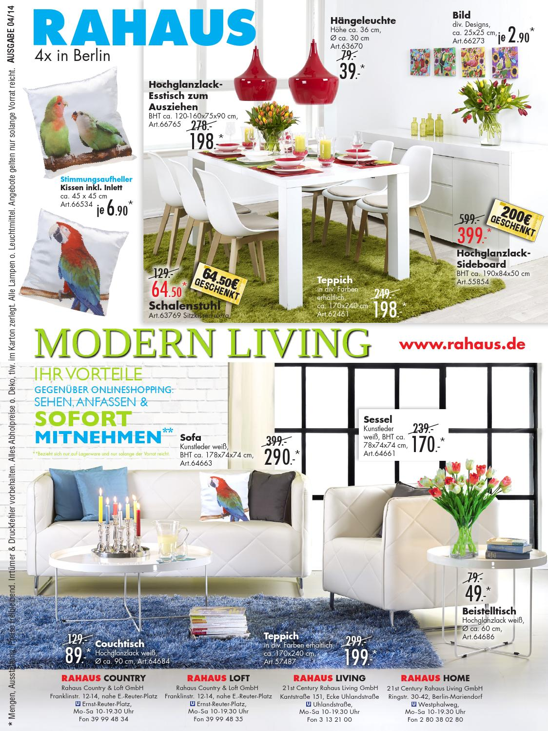Möbel rahaus prospekt 2014 04 10 by catalogofree - issuu