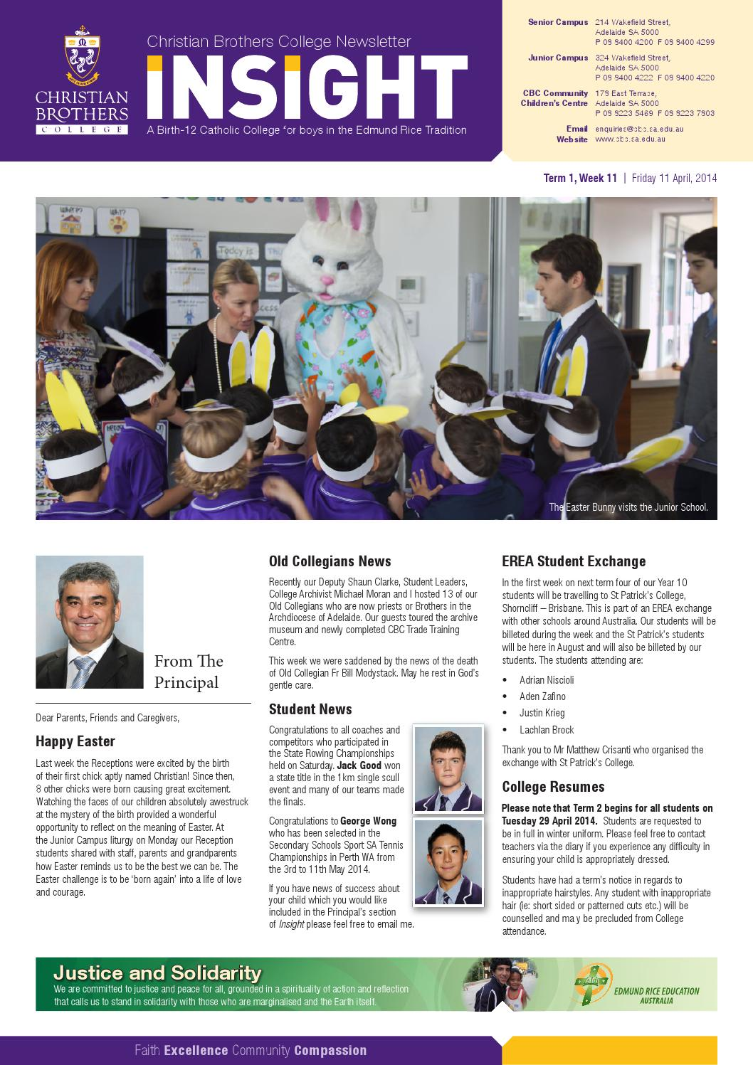Christian Brothers Near Me >> Insight 2014t1w11 By Christian Brothers College Adelaide Issuu