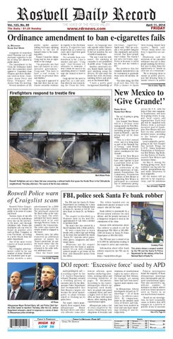 04 11 14 Roswell Daily Record By Roswell Daily Record Issuu