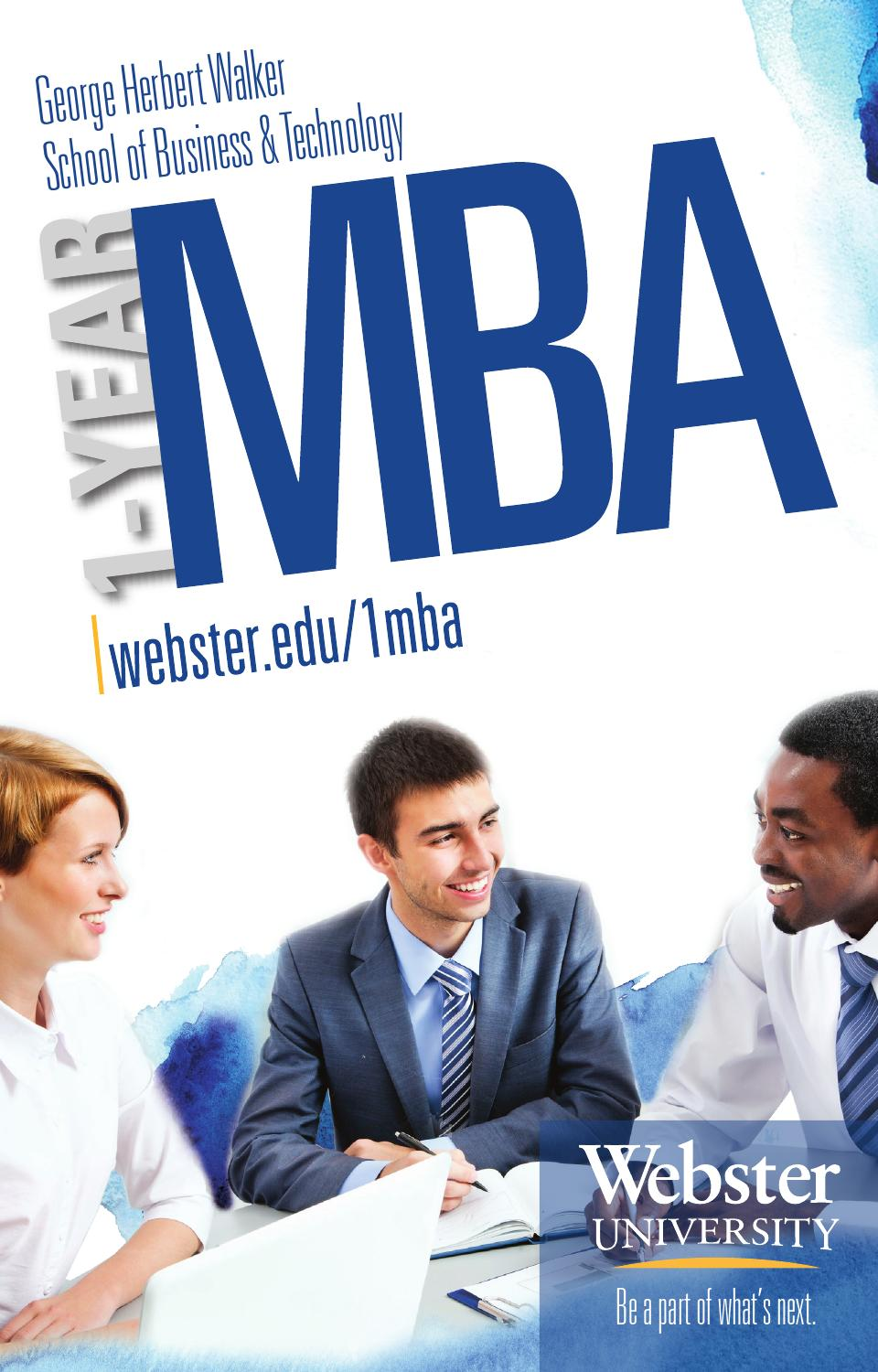 1 Year Mba Brochure By Walker School Of Business