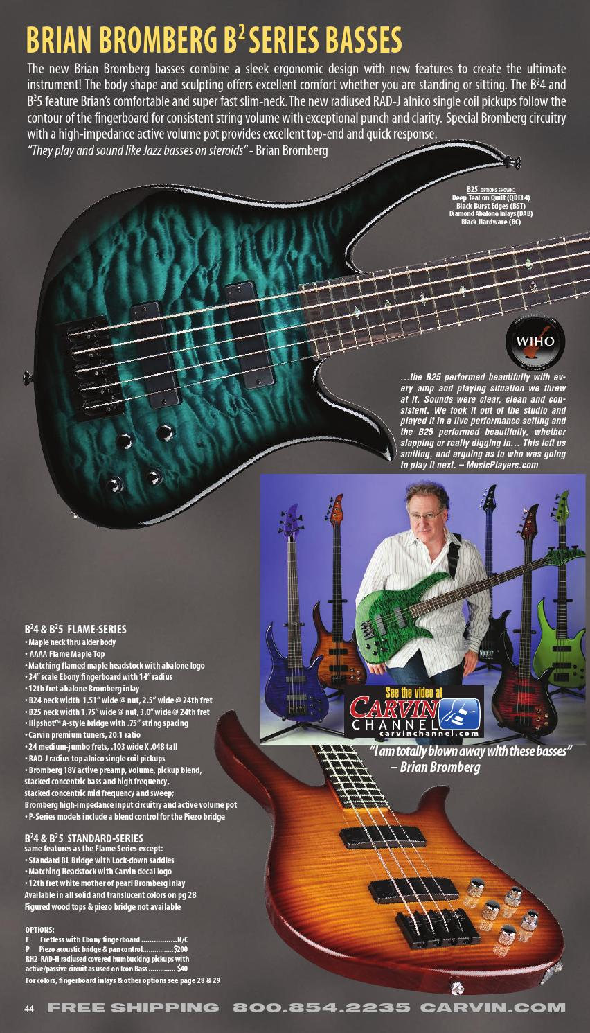 ... 2014 01 carvin bass catalog by alex lopez issuu Carvin 5 String Bass  Carvin Bass Wiring