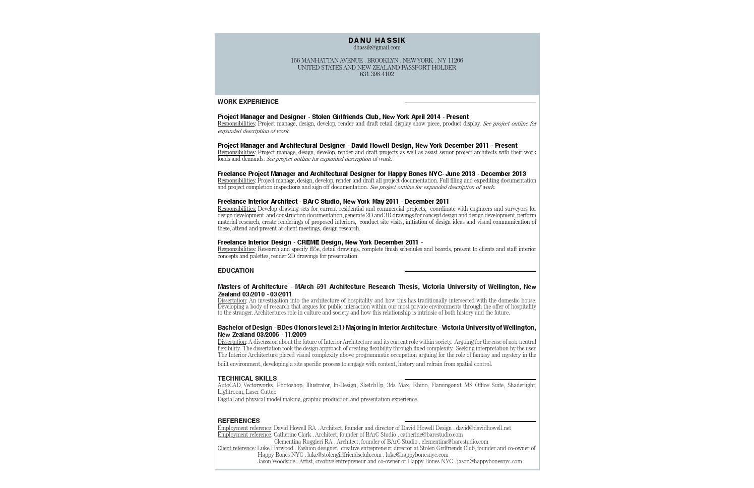 Resume Dhassik By Danu Hassik