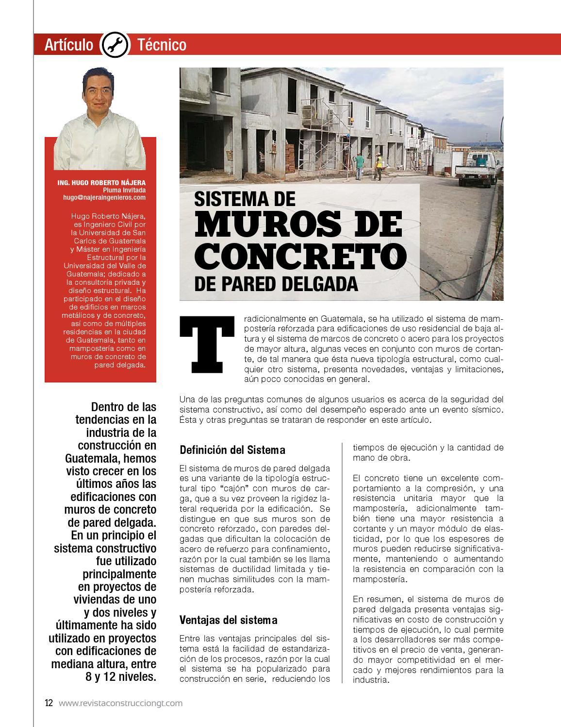 Revista construcción 194 by Cámara Guatemalteca de la Construcción ...