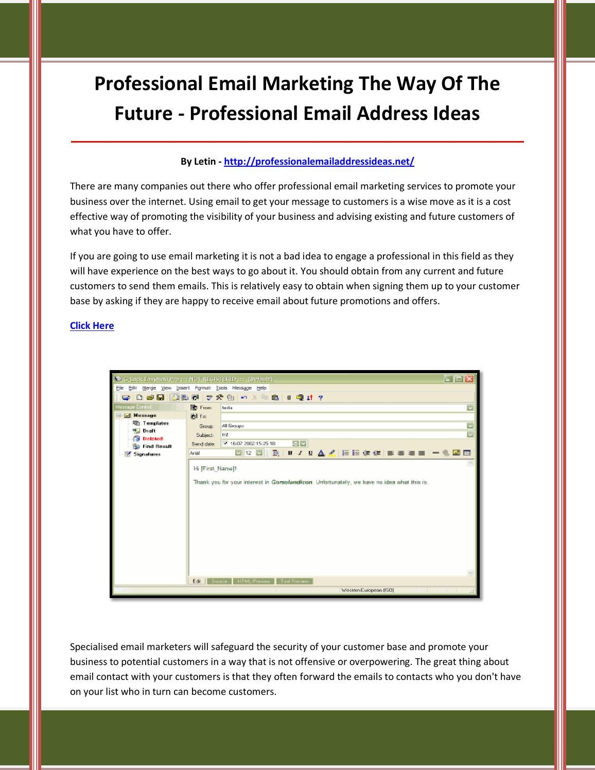 professional email address ideas by adsfcvdgfbvhfgvvjf - issuu