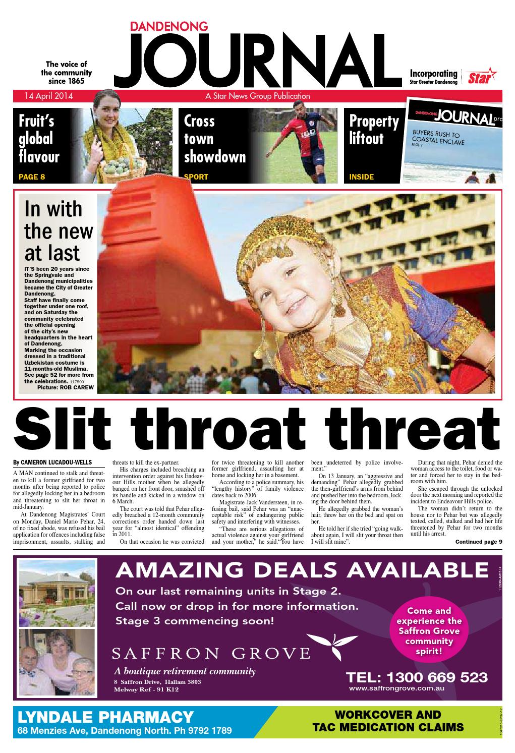 Dandenong Journal Star 14th April 2014 By Star News Group Issuu