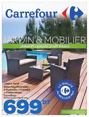 Catalogue carrefour jardin et mobilier by carrefour tunisie issuu - Salon de jardin carrefour home ...