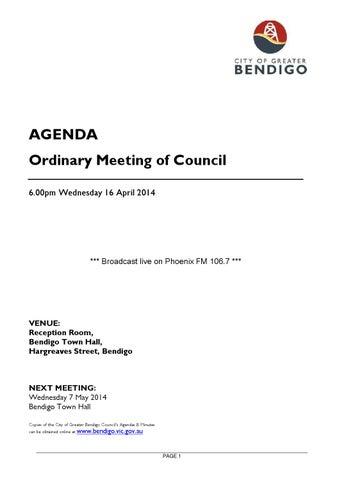 20140416 council agenda 16 april 2014