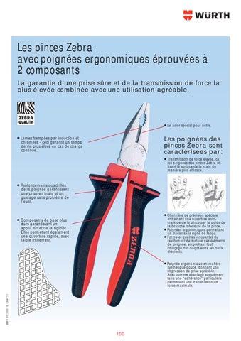 Pince à encoches recourbée en arc recourbé avec poignées Comfort Grip