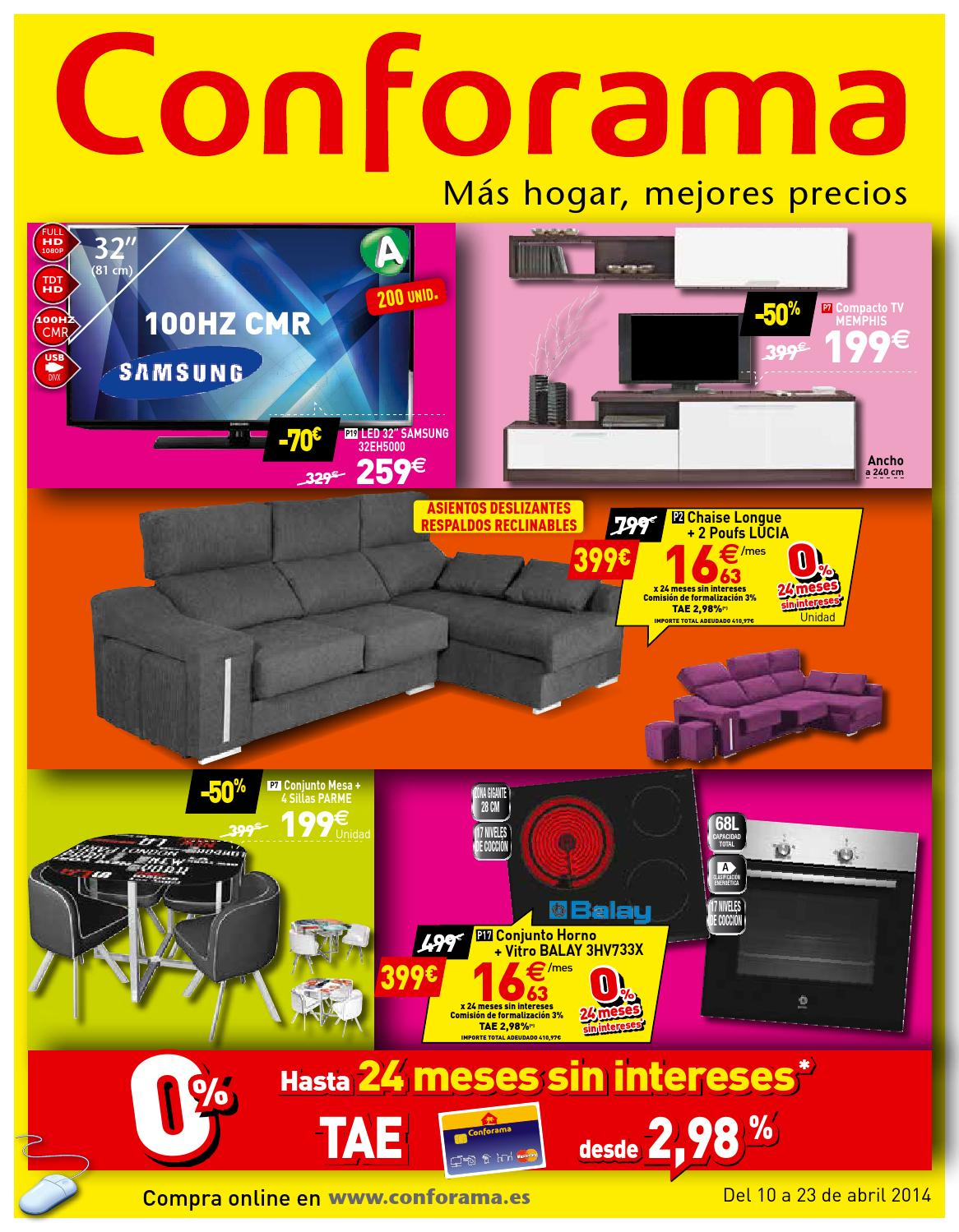 Conforama catalogo 10 23abril2014 by catalogopromociones for Sofa lucia conforama