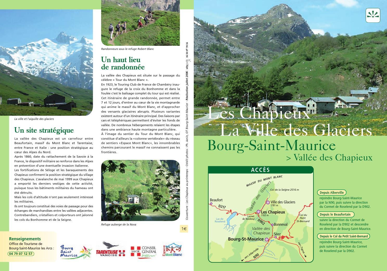 Les chapieux la ville des glaciers by bourg saint maurice les arcs issuu - Office de tourisme de bourg saint maurice ...