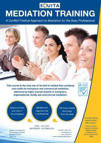 EQuita Mediation Training Brochure by Lyndsay Mason - issuu