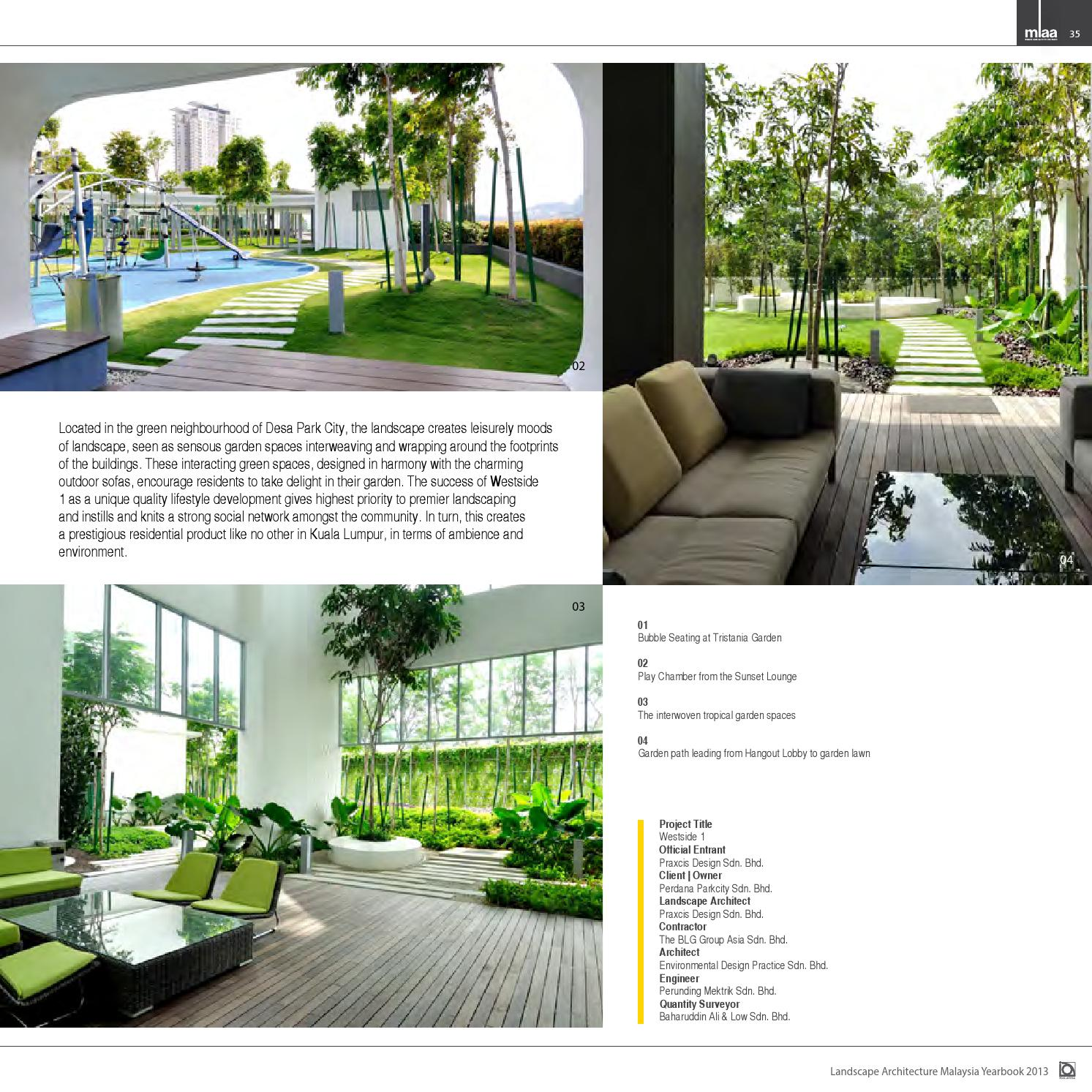 Malaysia Landscape Architecture Yearbook 2013 By Charles Teo Issuu
