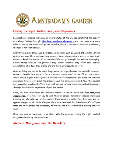 San Jose Marijuana Dispensary Amsterdams Garden By Amsterdamsgarden