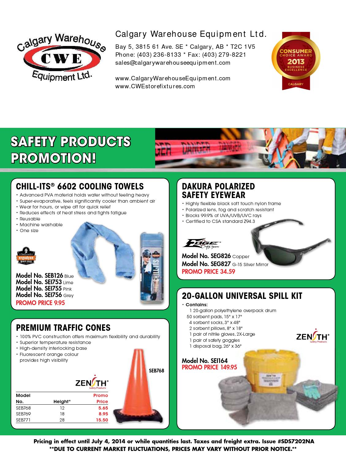 Cwe spring safety flyer 2014 by calgary warehouse equipment ltd cwe spring safety flyer 2014 by calgary warehouse equipment ltd issuu biocorpaavc Choice Image