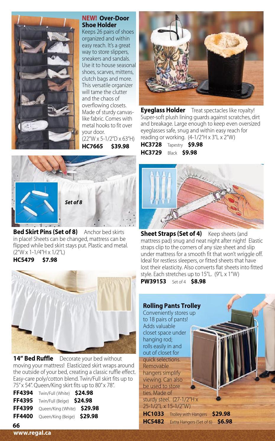 Home & Garden Bed Skirts Bed Skirt Pins Set of 8 / Keep bedskirts