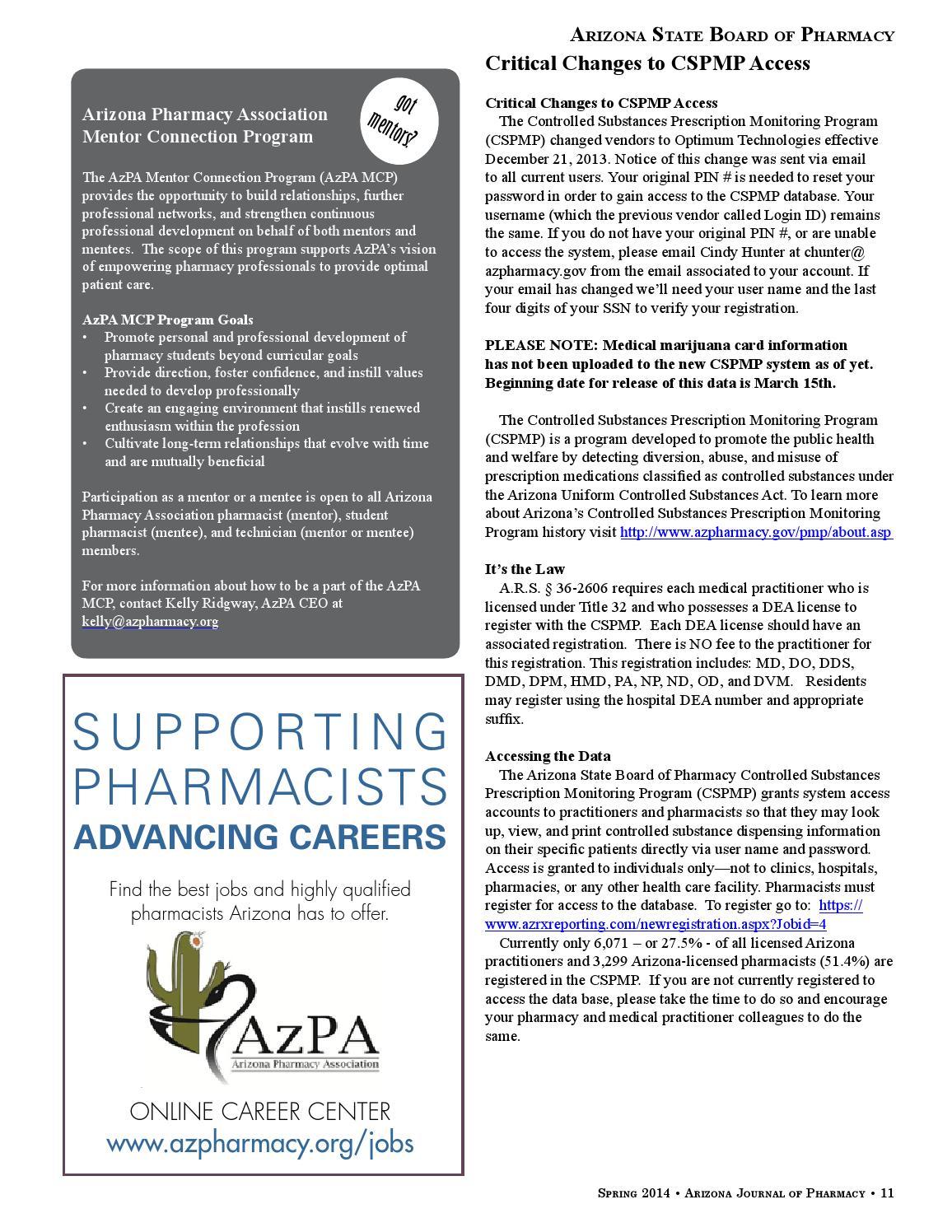 Ajp Spring 2014 By Arizona Pharmacy Association Issuu