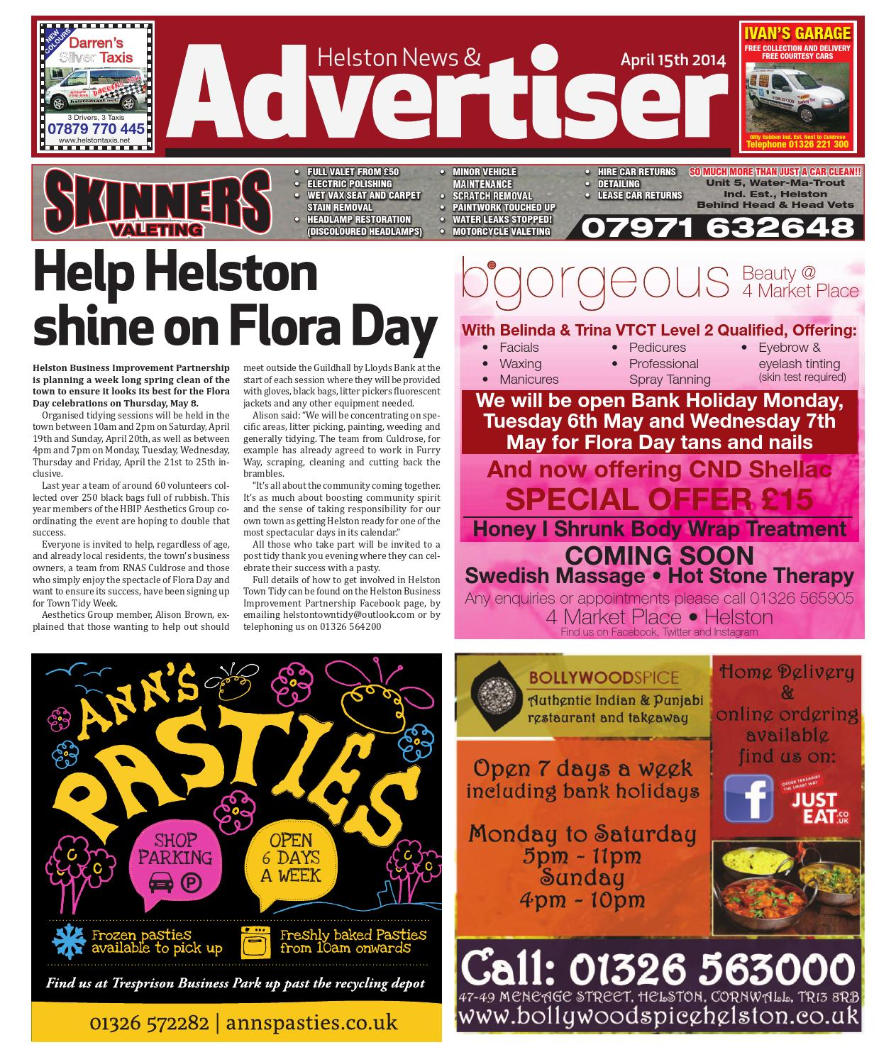 f4e9c608d0 Helston News   Advertiser - 15th April 2014 by Helston Advertiser ...