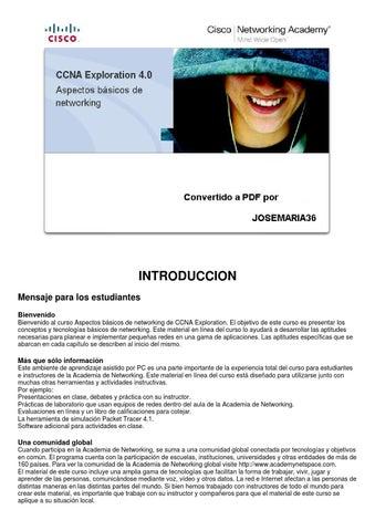 Modulo De Estudio Ccna 1 Exploration Cisco By Marypalacios